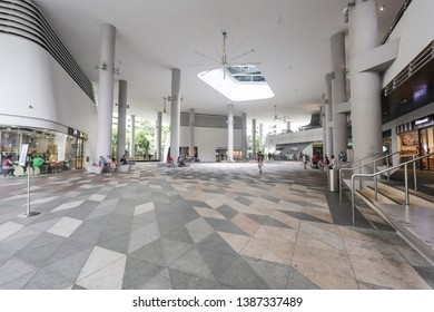 Woodlands / Singapore - May 2nd 2019: A roof view from a shopping mall.
