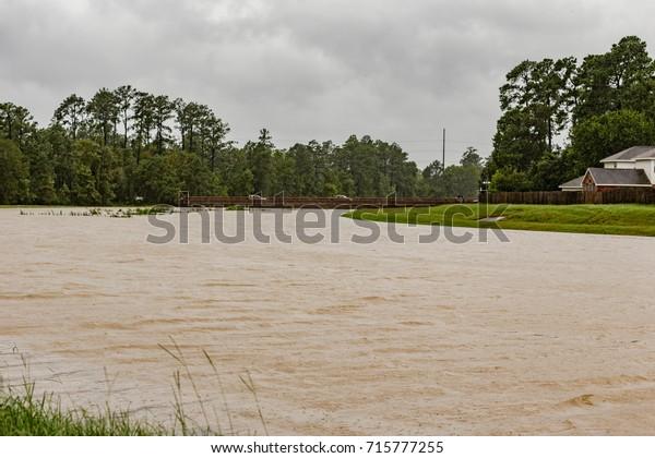 The Woodlands Texas Flooding >> Woodlands Texasusa August 28 2017 Flooding Stock Photo Edit
