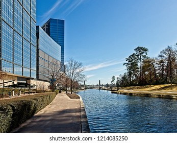 The Woodlands TX USA - Jan. 25, 2018  -   Building Reflexion Along The Waterway The Woodlands TX 4