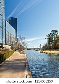 The Woodlands TX USA - Jan. 25, 2018  -   Building Reflexion Along The Waterway The Woodlands TX 5