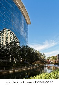The Woodlands TX USA - Jan. 25, 2018  -   Building Reflexion Along The Waterway The Woodlands TX 3