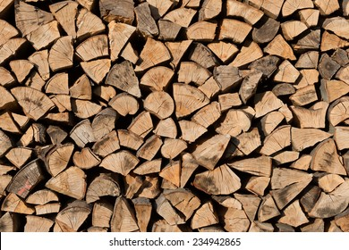 Woodpile as a fullframe background