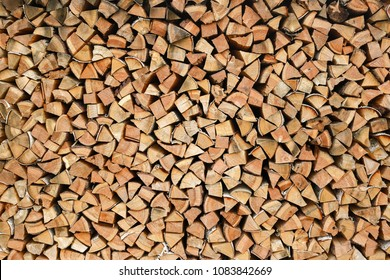 Woodpile, logger, firewood, sawn trees, background, texture wood