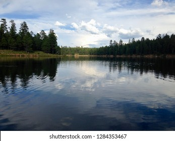 Woods Canyon Lake on the Mogollon Rim in the Apache Sitgreaves National Forest, northern Arizona