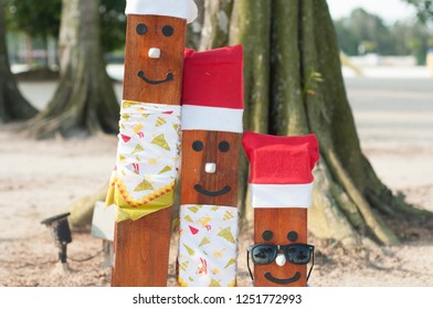 woods decoration Christmas, smail wood at treasurebay bintan, desember 2018
