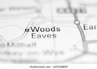 Woods Eaves. United Kingdom on a geography map