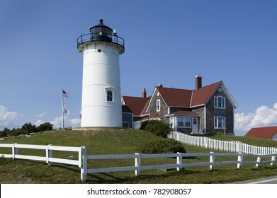 Woods Hole, Falmouth, Massachusetts.  Nobska Light in Falmouth near Woods Hole, Cape Cod, USA
