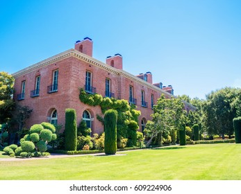 Woodside, California, USA -  July 30, 2016:  Carrington Mansion and Gardens also known as Filoli Country House, Woodside California