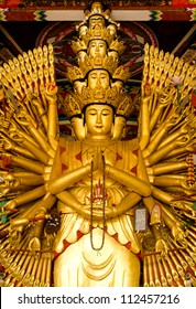 wood-statue-of-thousand-hands-kuan-im-u-lai-master-god-in-traditional-chinese-culture