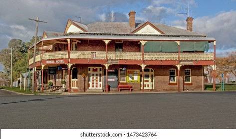 Woodstock, Australia - August 04, 2006: The Royal Hotel in the old country town of Woodstock in the central west of New South Wales, Australia. There are a number of heritage listed sites in the town.