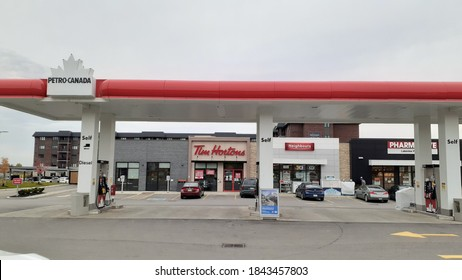 Woodstock Canada - October 29th, 2020: Petro Canada Gas Station