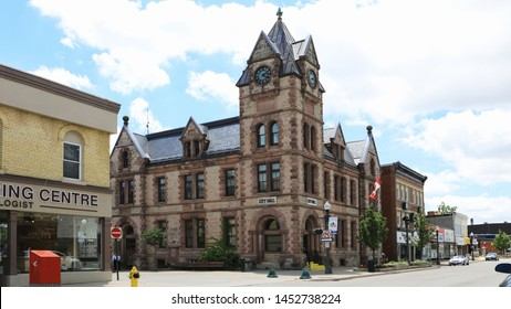 WOODSTOCK, ONTARIO/CANADA- JUNE 26, 2017: A View of City Hall in Woodstock, Ontario, Canada
