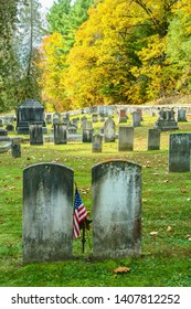 Woodstock, Vermont - 10/16/2006:  a vintage cemetary in rural vermont with tombstones dated during the revolutionary war period, near Woodstock