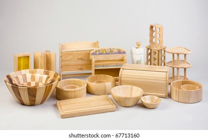 woodwork kitchenware or utensils isolated on background