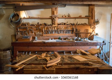 The Woodworking Shop at Bent's Old Fort National Historic Site, Colorado
