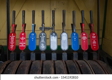 Woody Bay Station signal levers