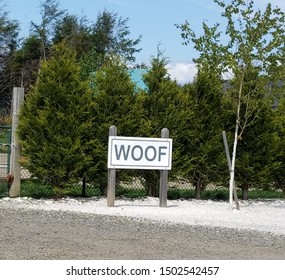Woof Sign at the Dog Park