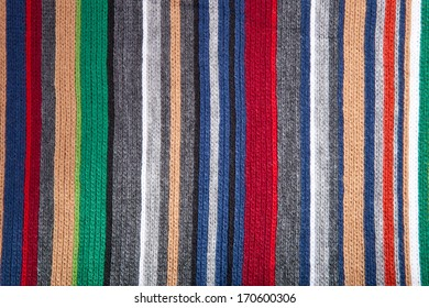 wool background with multicolored stripes
