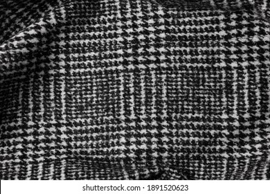 Wool fabric background texture. Houndstooth pattern