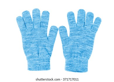 Wool gloves isolated on white