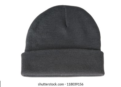 f330df95feb Wool knitted winter hat isolated on white background