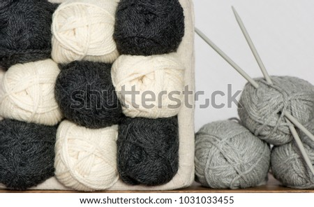 Wool Knitting Yarn Twisted Clews Knitting Stock Photo Edit Now