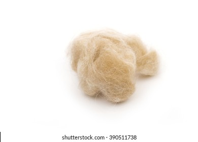 wool on the white background