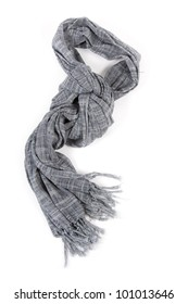 Wool scarf isolated on white