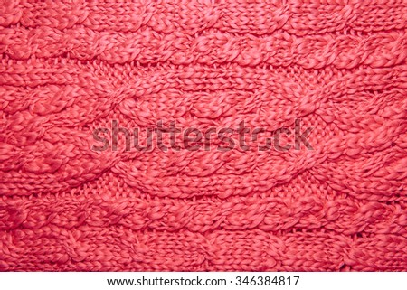 f31ab0a574f Wool sweater or scarf texture close up. Knitted jersey background with a  relief pattern.