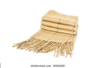 woolen neckerchief isolated on white