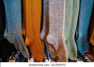 Woolen Socks in souvenir shop in Iceland
