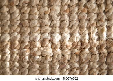 Woolen texture old carpet