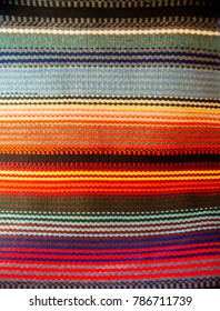 Woolen weaving in the traditional New Mexican style, handmade by local artisans on wooden looms