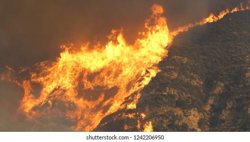 Woolsey Fire in Malibu off Kanan Road