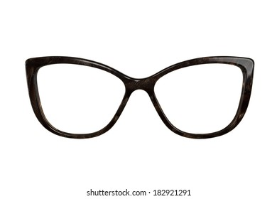 woomen glasses isolated on white