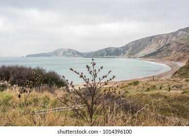 Worbarrow Bay by Tyneham the abandoned village in Dorset England