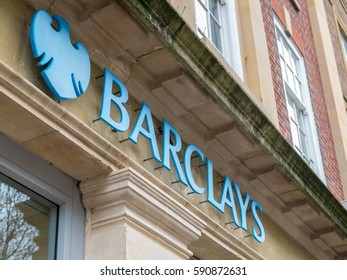 WORCESTER, UK - FEBRUARY 2017: Barclays Bank branch in Worcester, England.