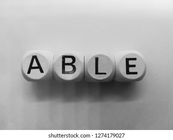 word able spelled on dice