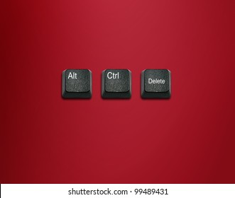 Word alt and control and delete Keyboard Keys, keyboard buttons with ideas.
