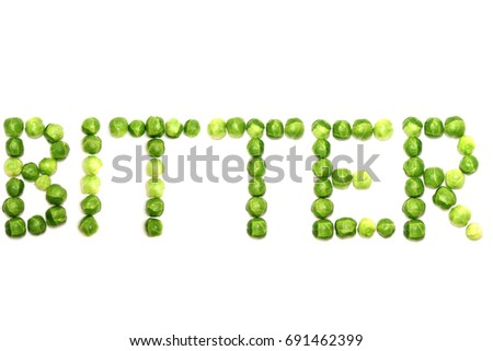 word bitter spelled brussel sprouts provide stock photo edit now