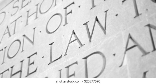 Word Carved in Stone Granite Law