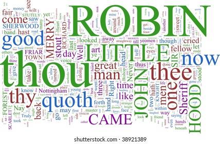 A word cloud based on Robin Hood