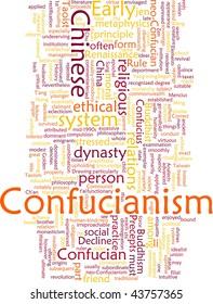 Word cloud concept illustration of  Confucian Confucianism