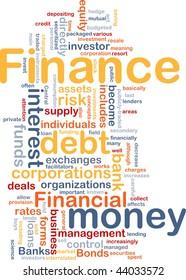 Word cloud concept illustration of money finance