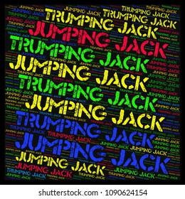 word cloud concept JUMPING JACK TRUMPING JACK