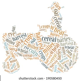Word cloud crops related