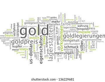 Word cloud -  gold