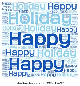 Word cloud: Happy Holiday