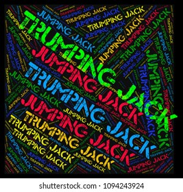 word cloud: jumping jack - trumping jack