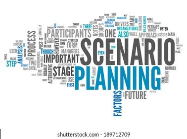 Word Cloud with Scenario Planning related wording